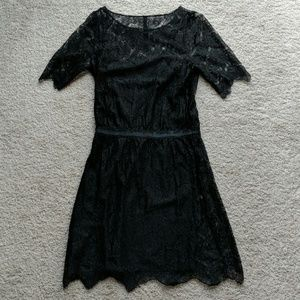 Madewell Eliot black lace dress